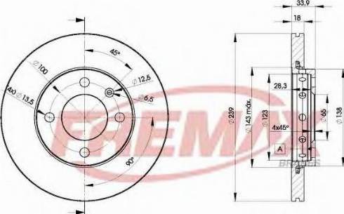 FREMAX BD-5303 - Bremžu diski interparts.lv