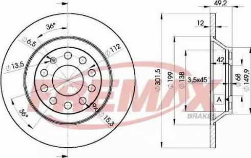FREMAX BD-5313 - Bremžu diski interparts.lv