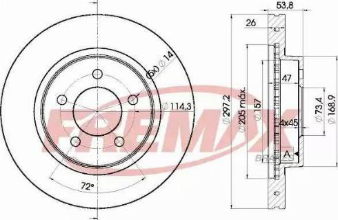 FREMAX BD-5386 - Bremžu diski interparts.lv