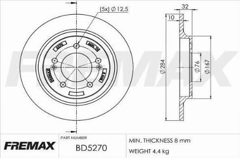 FREMAX BD-5270 - Bremžu diski interparts.lv