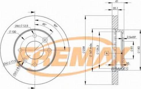 FREMAX BD-6572 - Bremžu diski interparts.lv