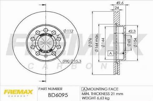 FREMAX BD-6095 - Bremžu diski interparts.lv