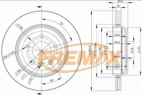 FREMAX BD-6074 - Bremžu diski interparts.lv