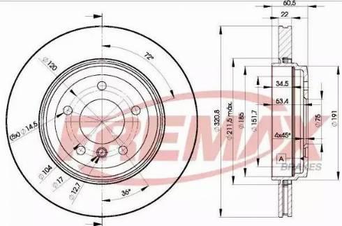 FREMAX BD-6073 - Bremžu diski interparts.lv