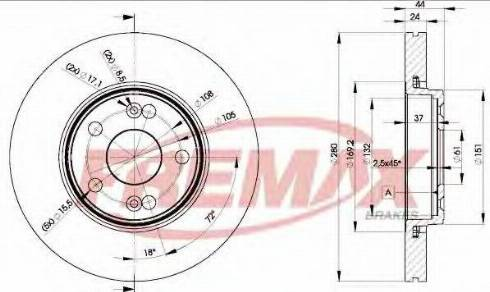 FREMAX BD-6198 - Bremžu diski interparts.lv