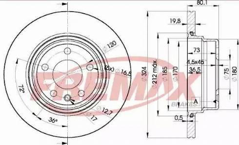 FREMAX BD-6849 - Bremžu diski interparts.lv