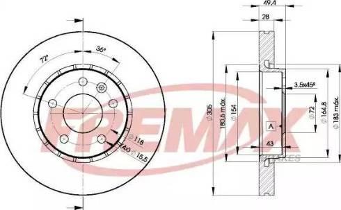FREMAX BD-6845 - Bremžu diski interparts.lv