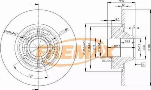 FREMAX BD-6846 - Bremžu diski interparts.lv
