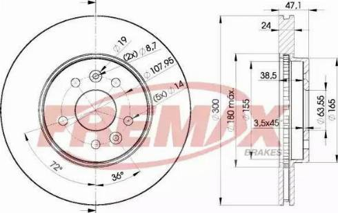 FREMAX BD-6767 - Bremžu diski interparts.lv