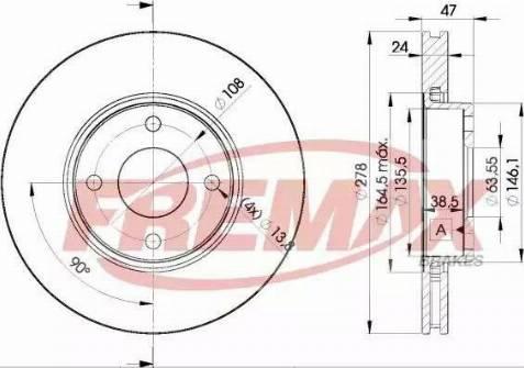 FREMAX BD-6785 - Bremžu diski interparts.lv