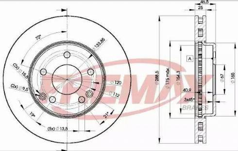 FREMAX BD-0410 - Bremžu diski interparts.lv