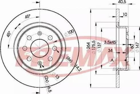 FREMAX BD-0592 - Bremžu diski interparts.lv
