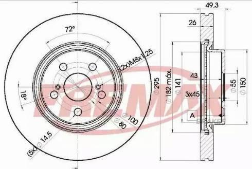 FREMAX BD-0505 - Bremžu diski interparts.lv