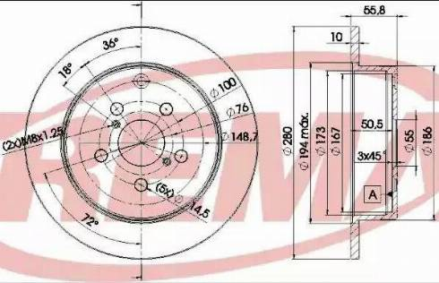 FREMAX BD-0503 - Bremžu diski interparts.lv