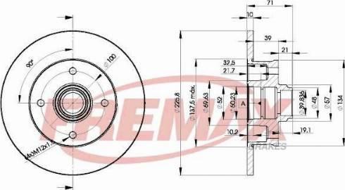 FREMAX BD-0570 - Bremžu diski interparts.lv