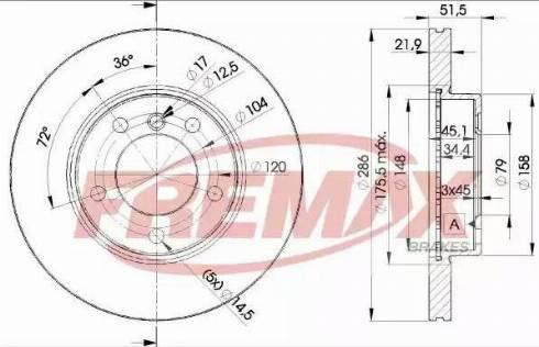 FREMAX BD-0674 - Bremžu diski interparts.lv