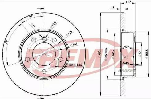 FREMAX BD-0673 - Bremžu diski interparts.lv