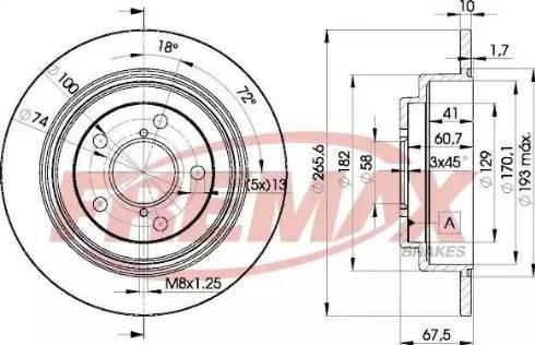 FREMAX BD-0034 - Bremžu diski interparts.lv