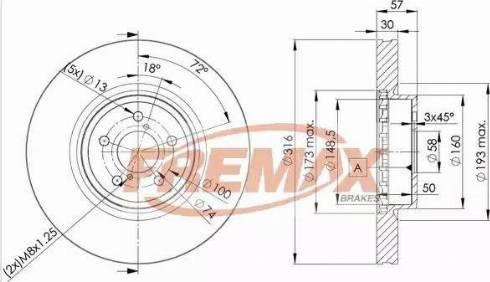 FREMAX BD-0035 - Bremžu diski interparts.lv