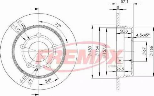FREMAX BD-0119 - Bremžu diski interparts.lv