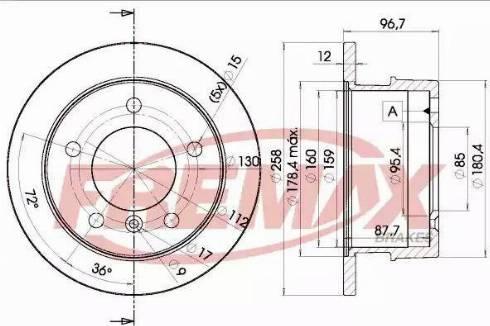 FREMAX BD-0184 - Bremžu diski interparts.lv