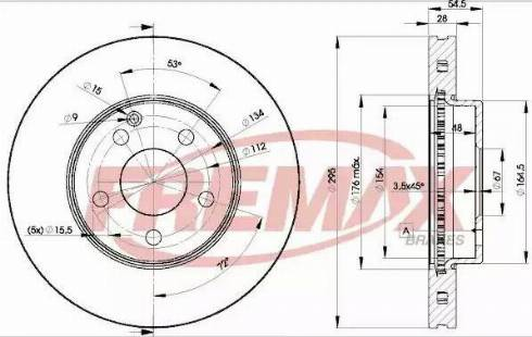FREMAX BD-0812 - Bremžu diski interparts.lv