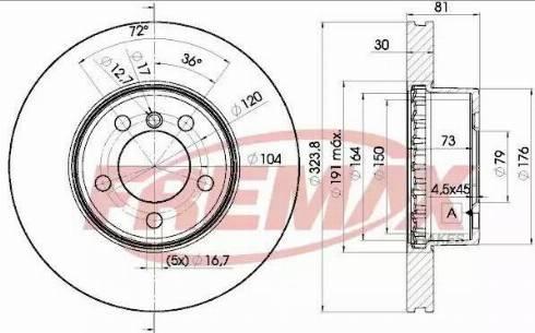 FREMAX BD-0265 - Bremžu diski interparts.lv
