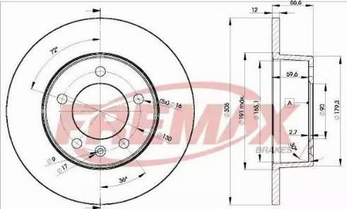 FREMAX BD-1410 - Bremžu diski interparts.lv