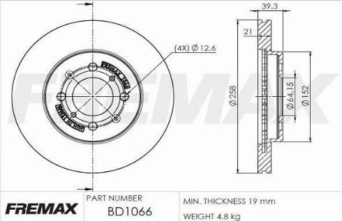 FREMAX BD-1066 - Bremžu diski interparts.lv