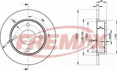 FREMAX BD-1063 - Bremžu diski interparts.lv