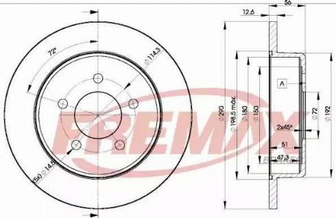 FREMAX BD-1023 - Bremžu diski interparts.lv