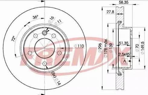 FREMAX BD-1134 - Bremžu diski interparts.lv
