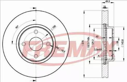 FREMAX BD-1320 - Bremžu diski interparts.lv