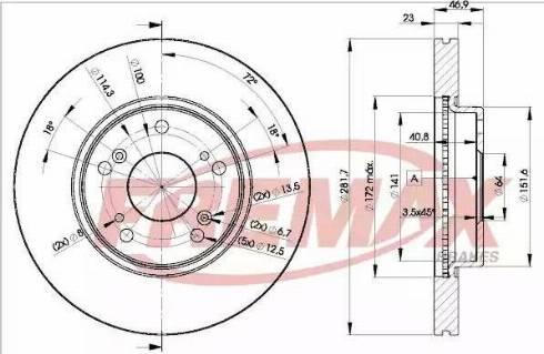 FREMAX BD-1705 - Bremžu diski interparts.lv