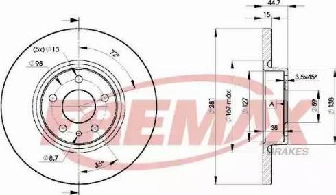 FREMAX BD-8567 - Bremžu diski interparts.lv
