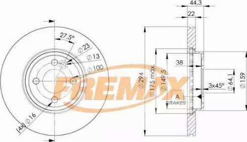 FREMAX BD-8570 - Bremžu diski interparts.lv