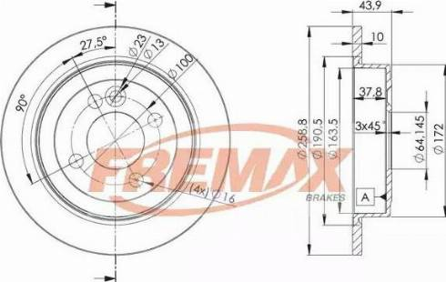 FREMAX BD-8571 - Bremžu diski interparts.lv