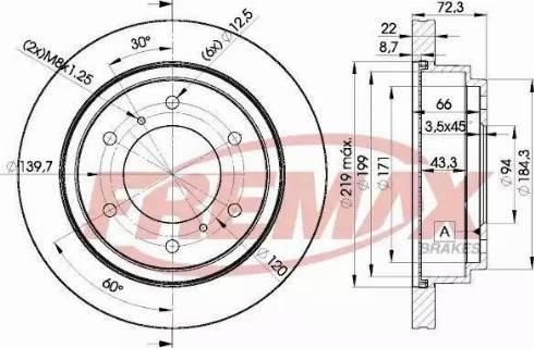 FREMAX BD-8067 - Bremžu diski interparts.lv