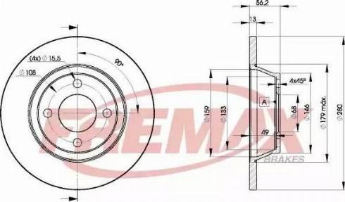 FREMAX BD-8014 - Bremžu diski interparts.lv
