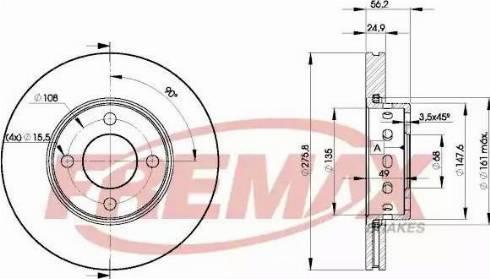 FREMAX BD-8012 - Bremžu diski interparts.lv