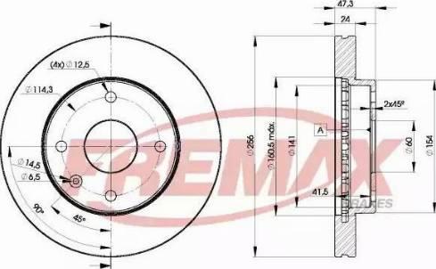 FREMAX BD-8338 - Bremžu diski interparts.lv