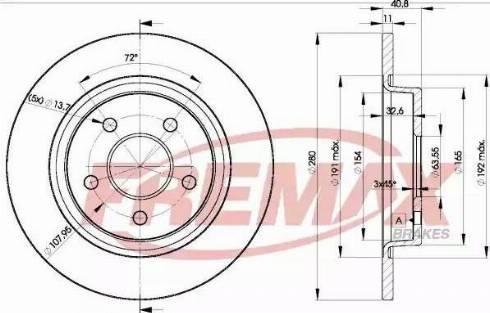 FREMAX BD-3962 - Bremžu diski interparts.lv