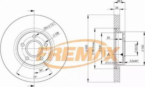 FREMAX BD-3937 - Bremžu diski interparts.lv