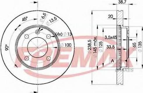 FREMAX BD-3975 - Bremžu diski interparts.lv