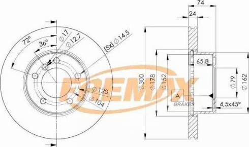 FREMAX BD-3405 - Bremžu diski interparts.lv