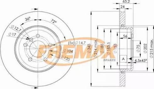 FREMAX BD-3403 - Bremžu diski interparts.lv