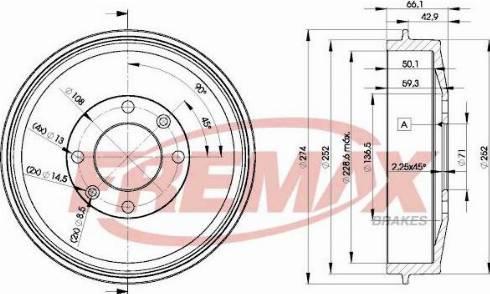 FREMAX BD-3556 - Bremžu diski interparts.lv