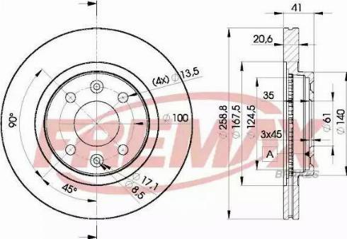 FREMAX BD-3550 - Bremžu diski interparts.lv