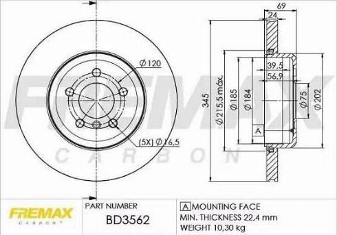 FREMAX BD-3562 - Bremžu diski interparts.lv