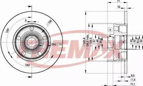 FREMAX BD-3576 - Bremžu diski interparts.lv